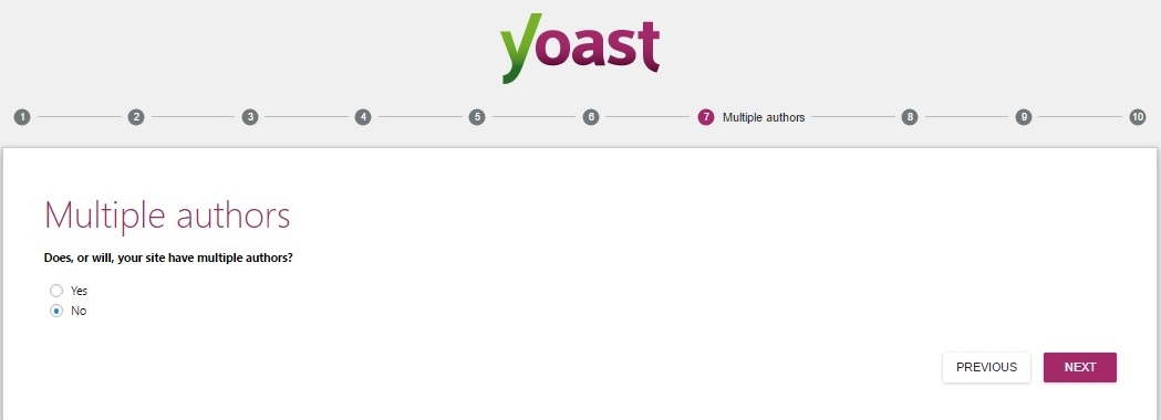 Yoast SEO WordPress Settings multiple authors settings