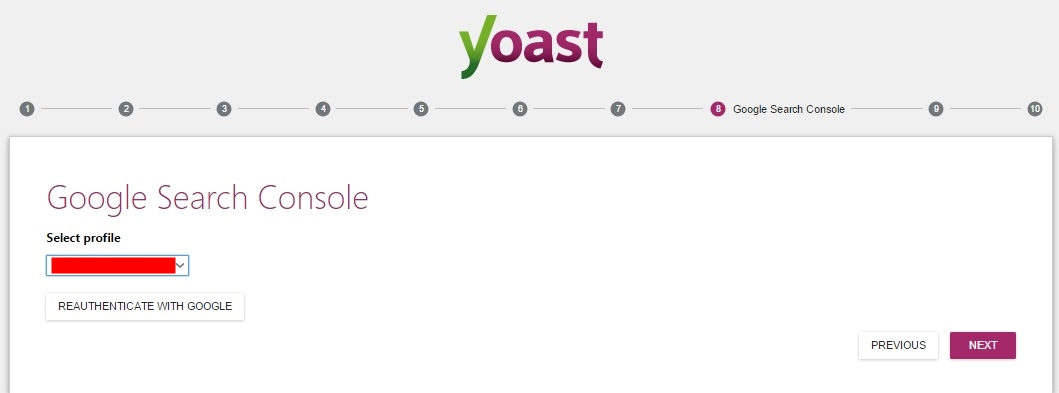 Yoast SEO WordPress Settings Google search console settings