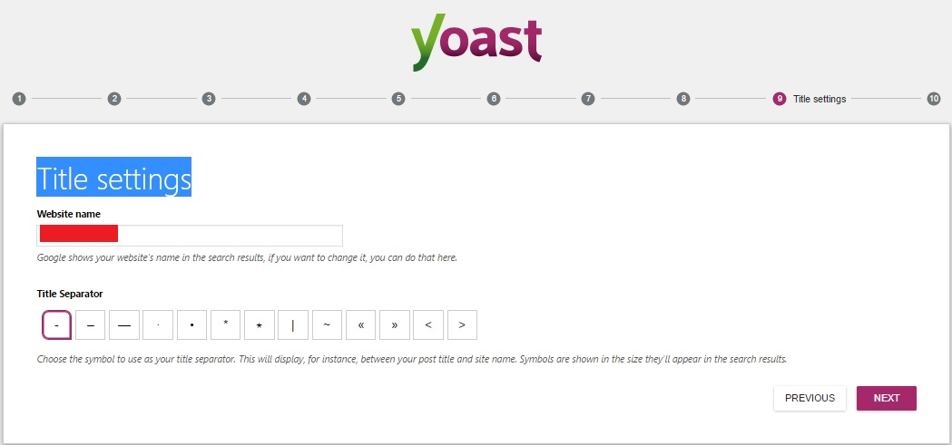 Yoast SEO WordPress Title settings