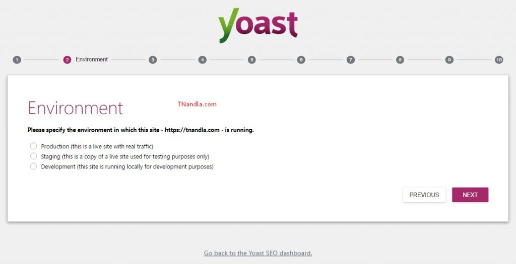 Yoast SEO WordPress Configuration - Environement